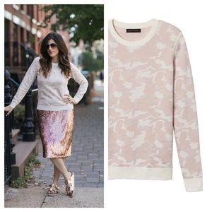 Banana Republic / pink camo jacquard sweater